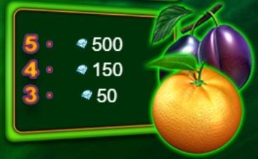 100 Burning Hot simvoli sliva portokal