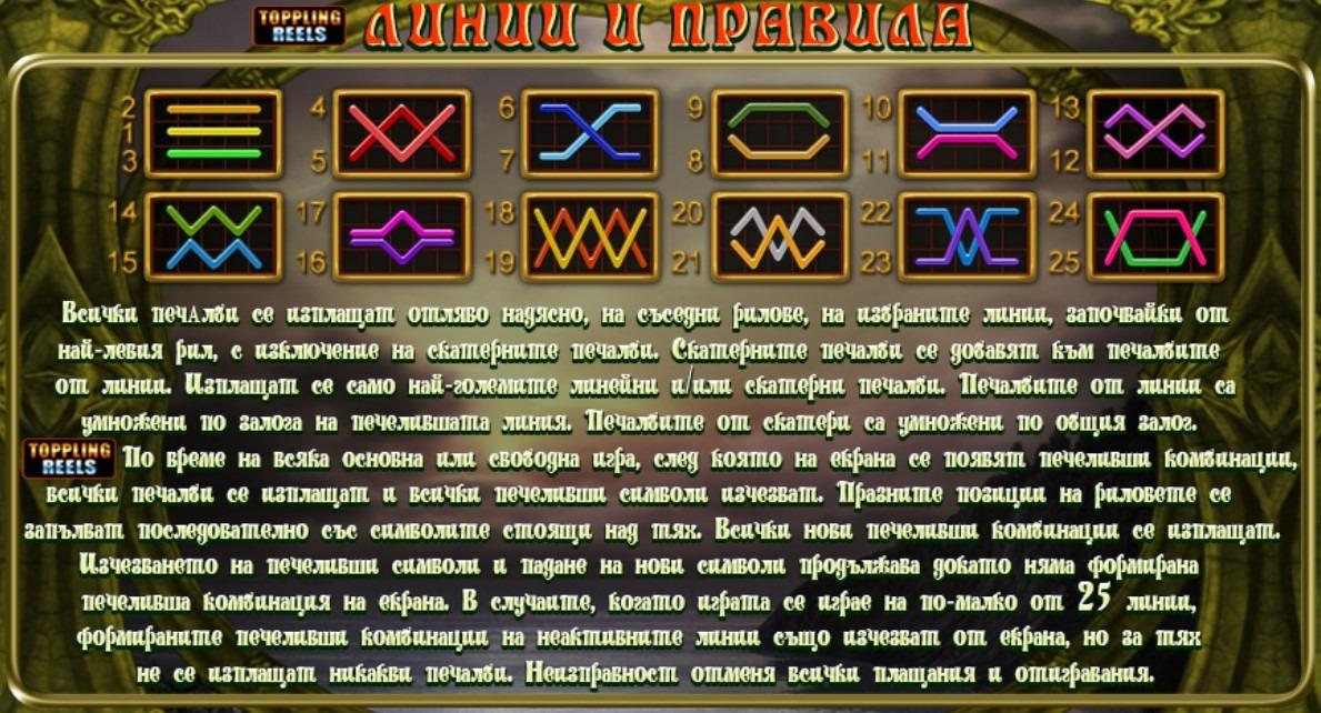 Secrets of Alchemy Linii i Pravila