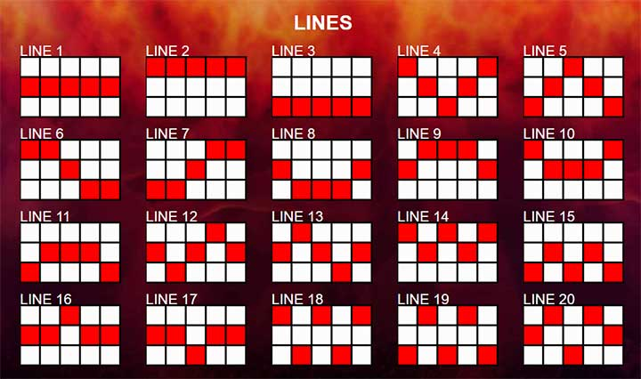 20 Mega Slot Line Sumbol