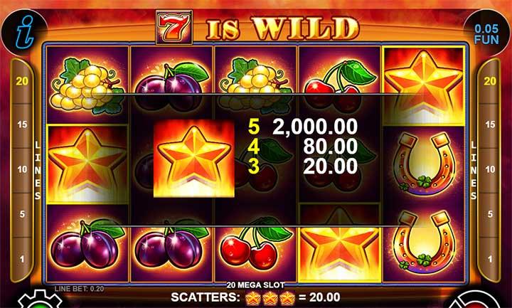 20 Mega Slot Scatter Payout