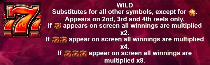 Hot 7s X 2 Wild Sumbol