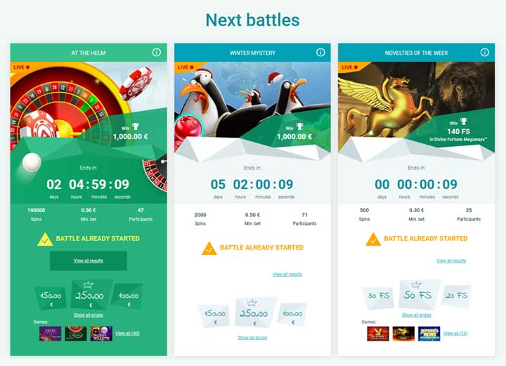 Aplay Casino Next Battles