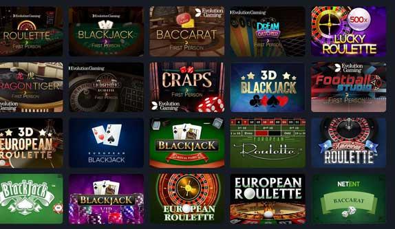 Frank Casino Live Games
