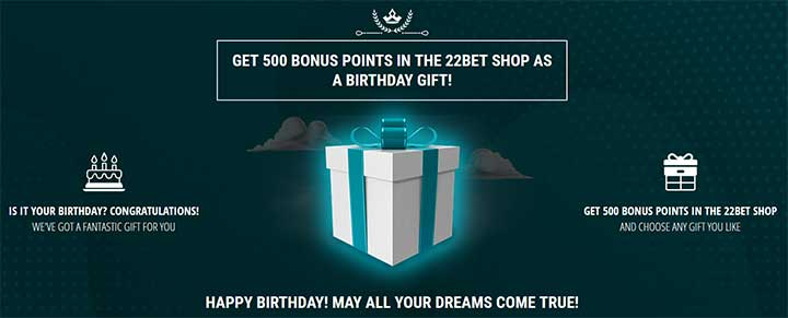 22 Bet Birthday Gift