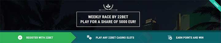22 Bet Weekly Race